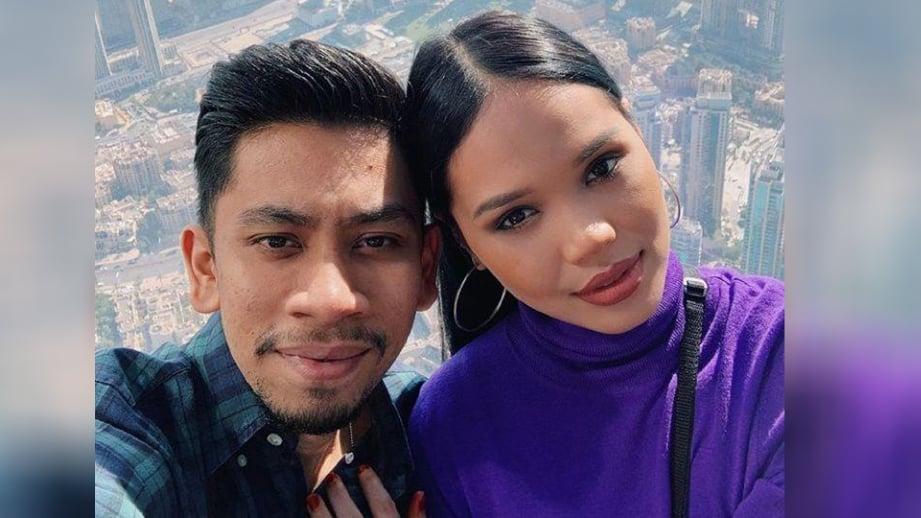 AIN bersama suaminya, Amirul. FOTO ihsan IG