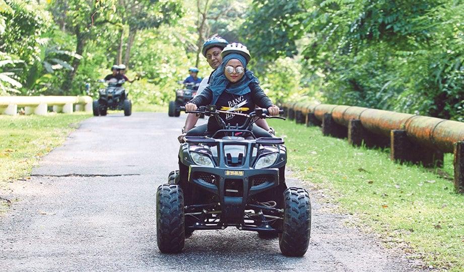 ATV antara aktiviti sampingan yang boleh dilakukan di Felda Residence Hot Spring.