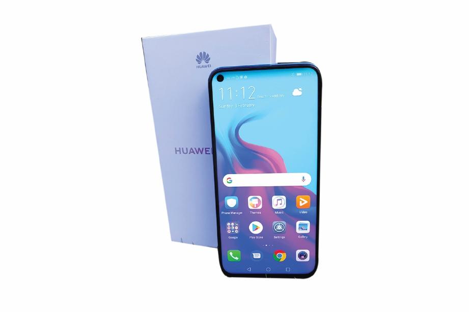 HUAWEI Nova 4 menggunakan skrin paparan berlubang.