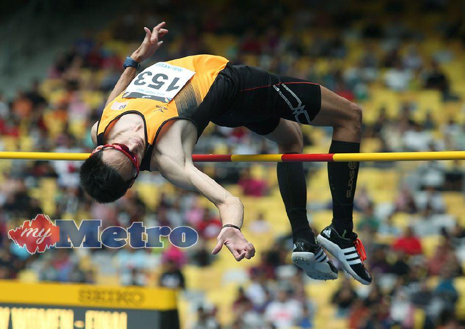 HUP Wei lakar lompatan terbaik peribadi di Canberra. Foto fail