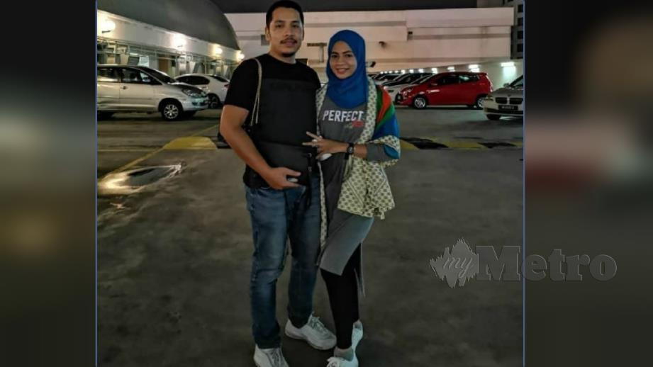 Zulfahani bersama suami. FOTO Ihsan Zulfahani Zulkifli