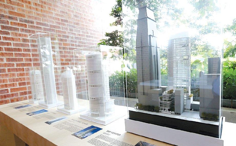 ANTARA model seni bina bangunan terkenal di seluruh dunia yang dipamerkan.