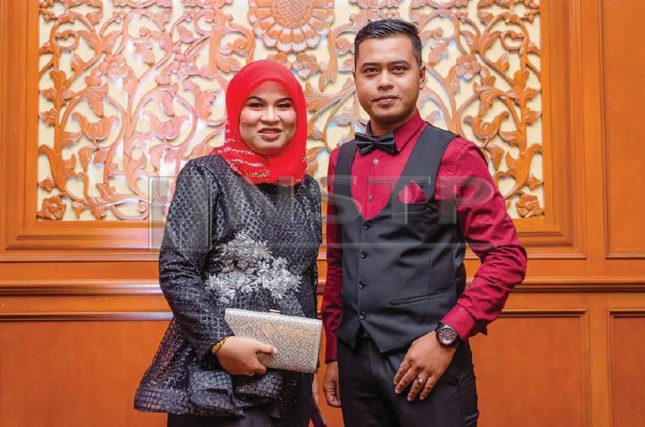 MASHITOH dan Mohd  Fakrulrazi. FOTO NSTP