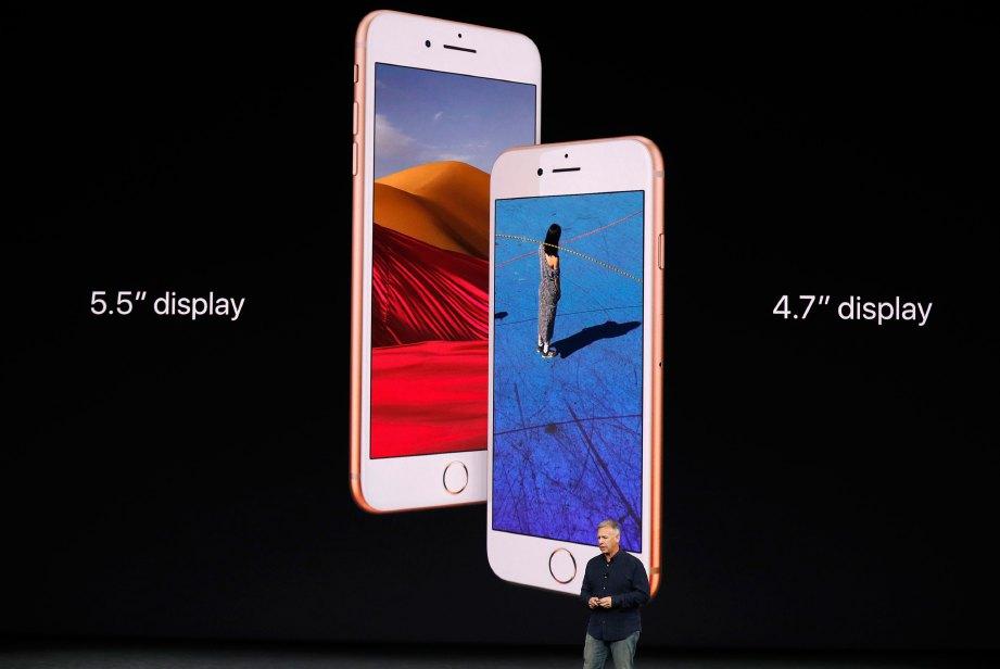 PAPARAN iPhone 8 dan 8 Plus. FOTO Reuters
