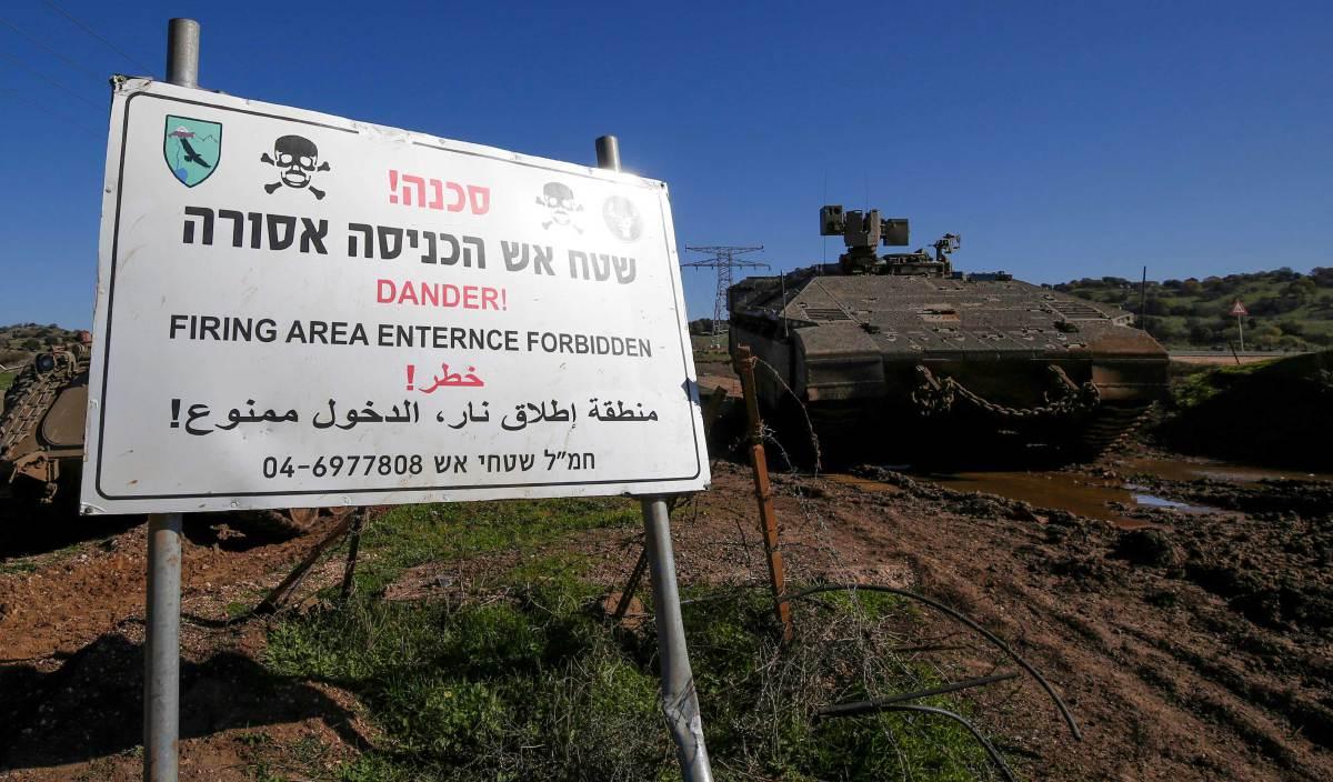 TENTERA Israel di Golan Heights. FOTO AFP