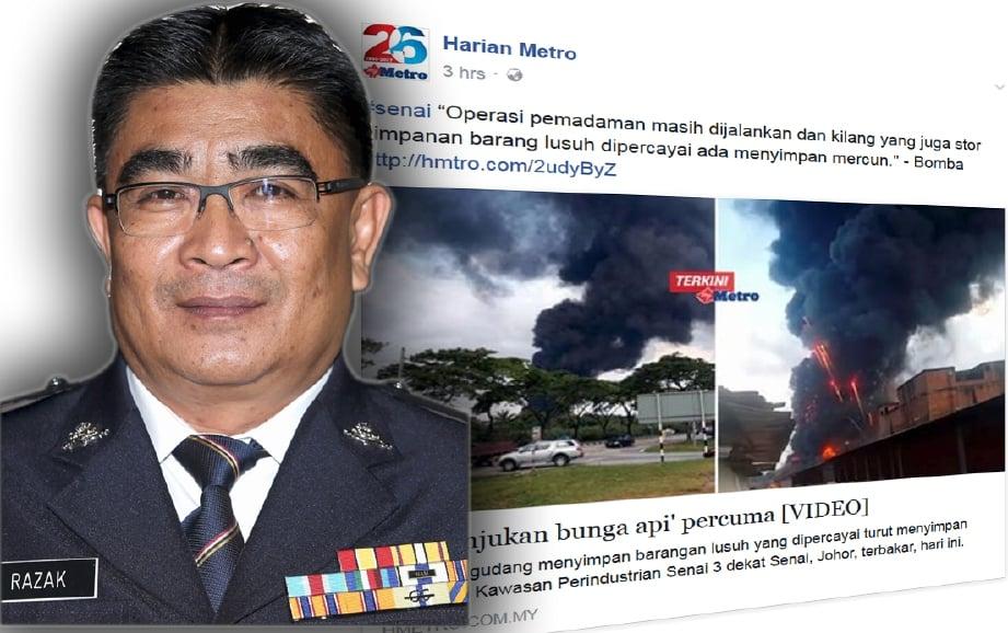 Ketua Polis Daerah Kulai, Superintendan Razak Md Said (kiri), berkata dua kertas siasatan dibuka.