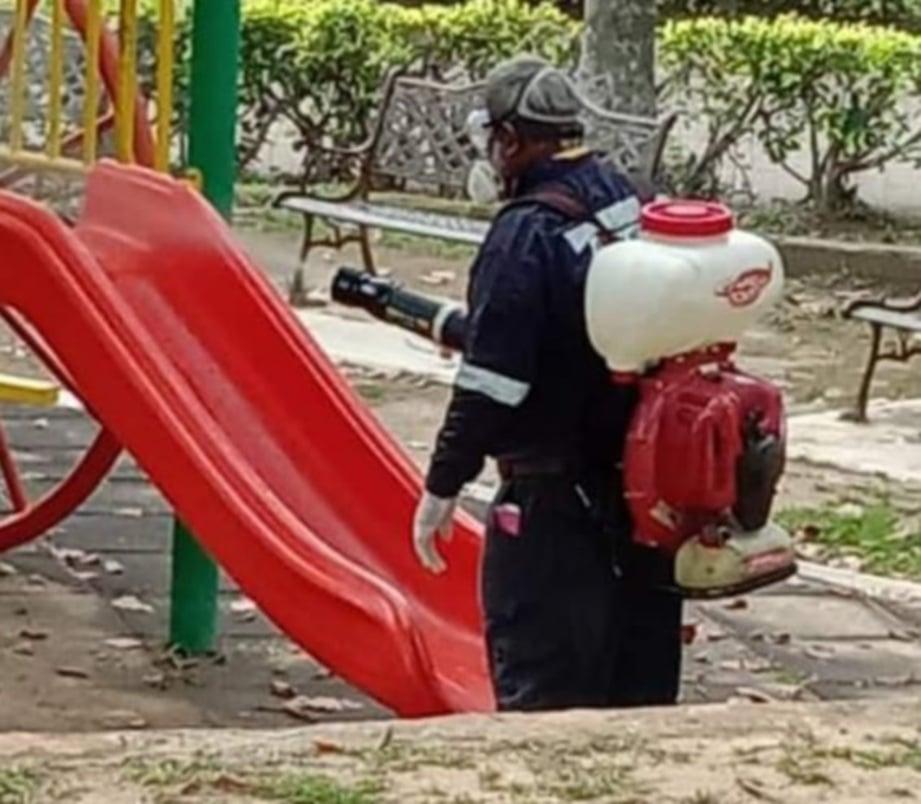 MPJ lakukan proses sanitasi awam di 14 lokasi sekitar taman perumahan, pusat sukan, taman rekreasi dan medan selera.