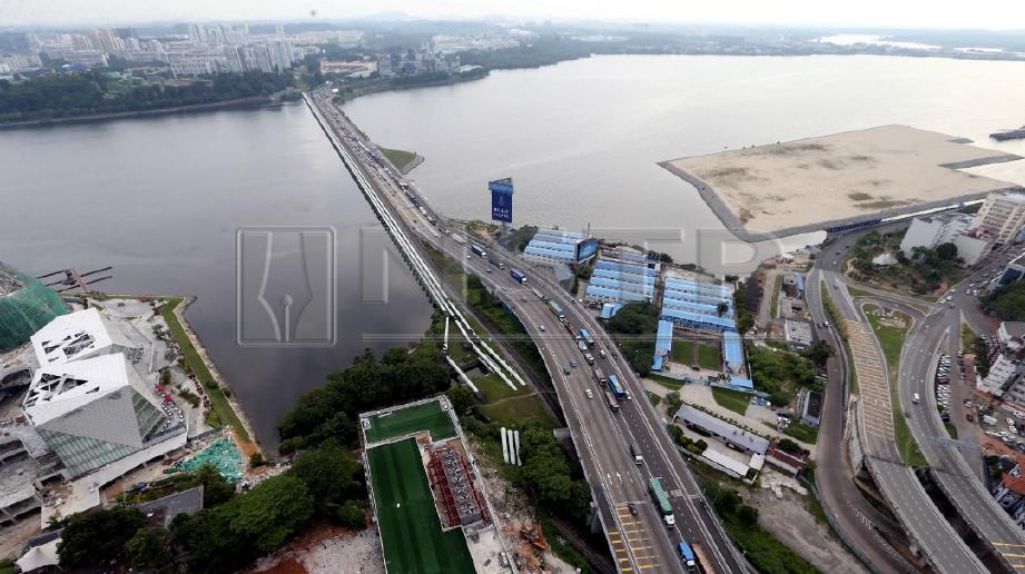 LOKASI cadangan pembinaan jambatan bengkok. FOTO Mohd Azren Jamaludin