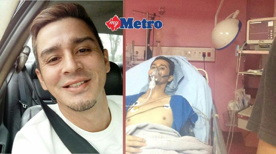 Adam mendapat rawatan di hospital. FOTO ADAM HAMID