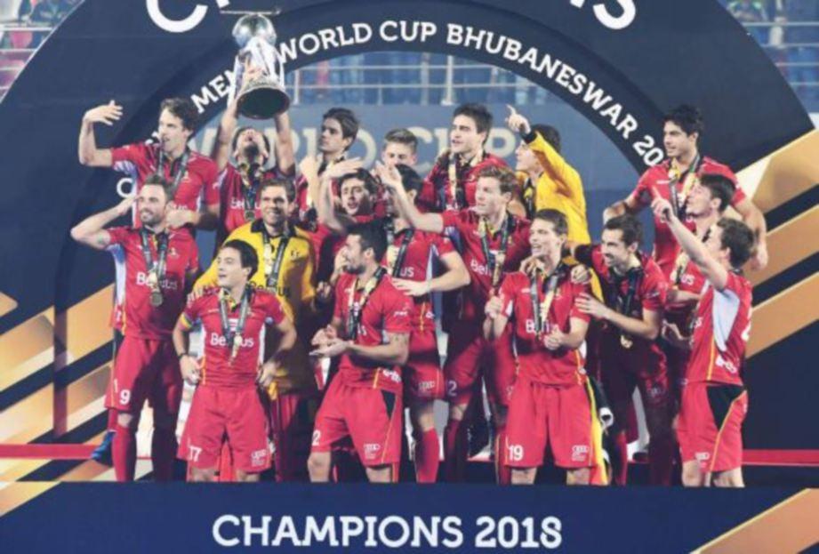 BELGIUM muncul juara Piala Dunia Hoki 2018 di Odisha, India. - FOTO Agensi