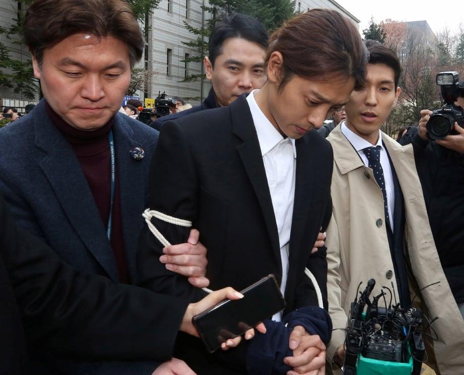 JUNG Joon-Young didapati bersalah. FOTO EPA