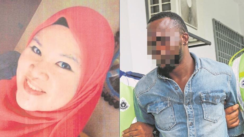 SITI Kharina (kiri) mengenali suspek. FOTO NSTP