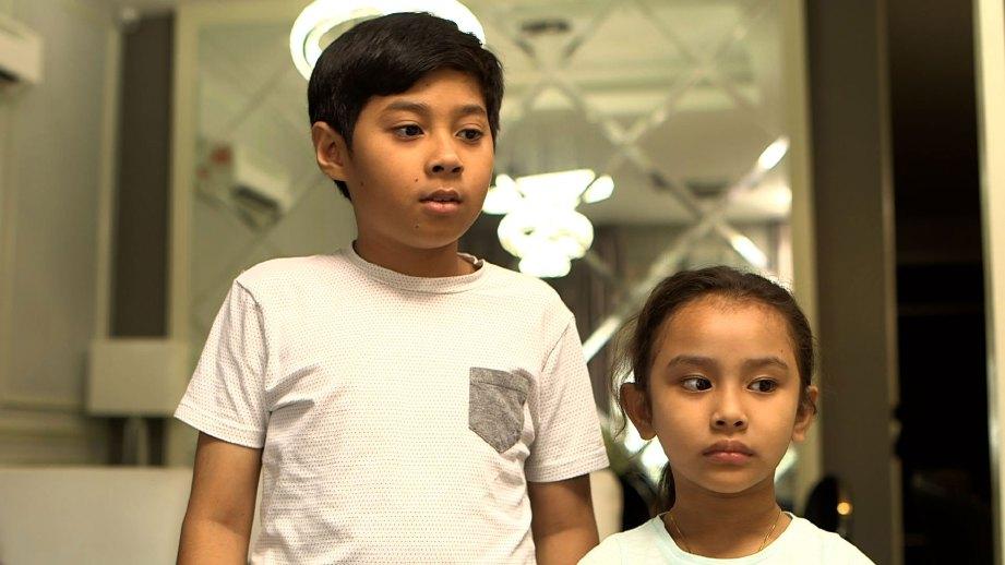 DANISh Hazriq dan Tengku Zara memainkan peranan utama.