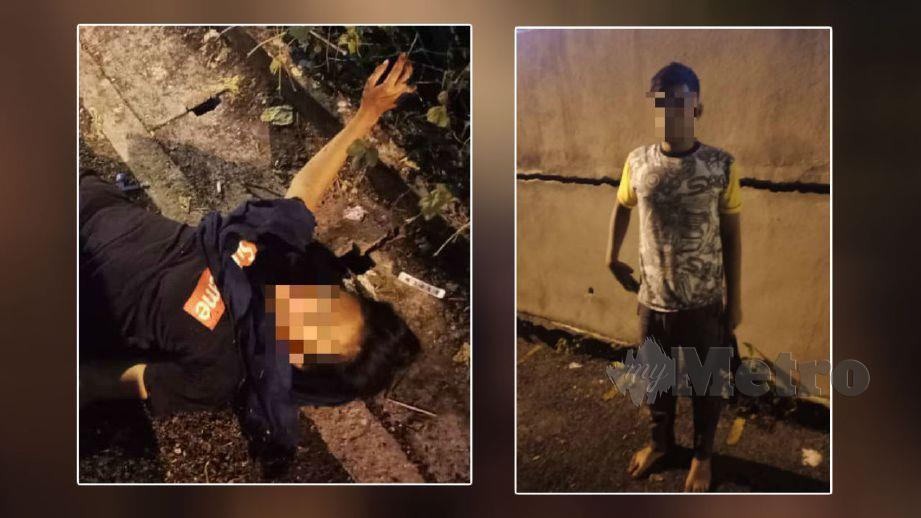 REMAJA perempuan parah manakala teman lelakinya cedera ringan. FOTO ihsan polis