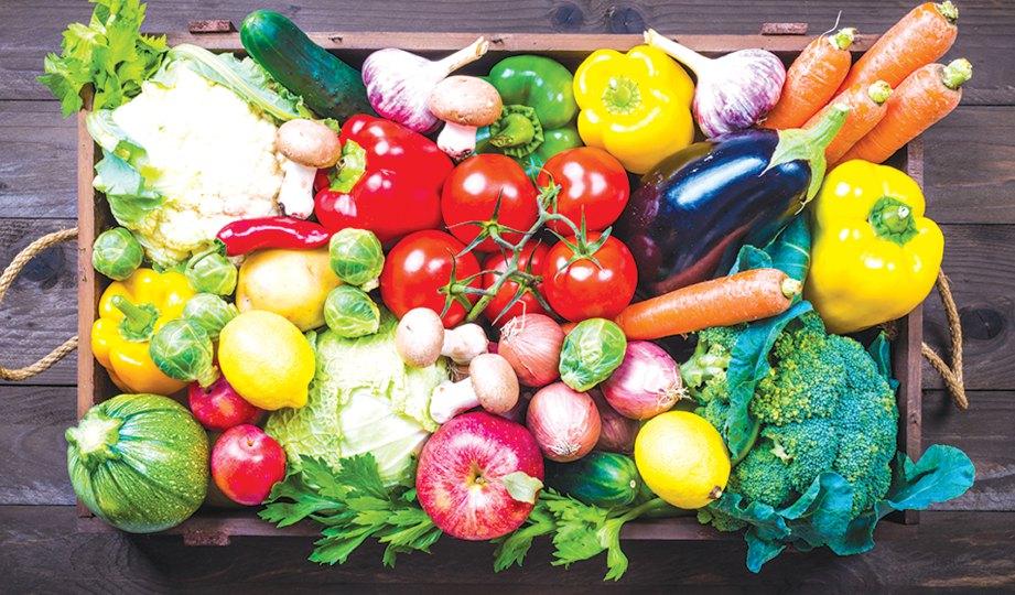 SAYURAN dan buah-buahan mempunyai banyak khasiat kepada kanak-kanak.