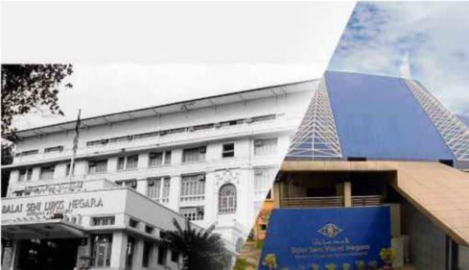 BALAI Seni Negara dahulu (kiri) dan sekarang.