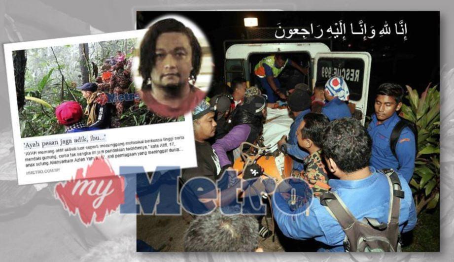 ANTARA 99 orang anggota mencari dan menyelamat yang diamanahkan untuk membawa keluar jenazah Allahyarham Azlan Yahya. FOTO Saifullizan Tamadi