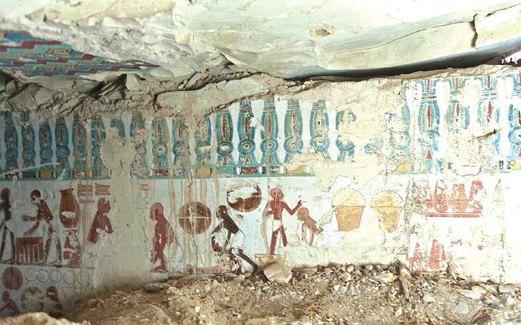 MURAL menakjubkan dipercayai berasal dari Dinasti ke-18 Kerajaan Baru Mesir.