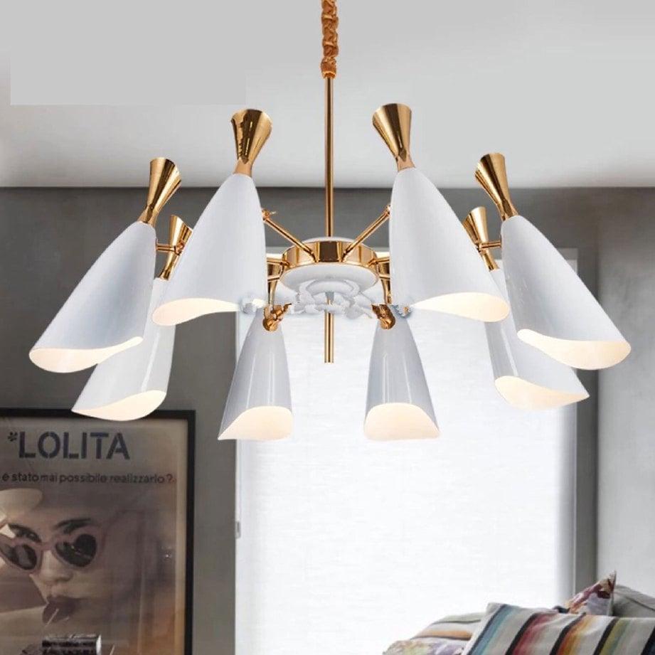 WARNA lampu kuning atau putih main peranan pencahayaan ruang bersiling tinggi.
