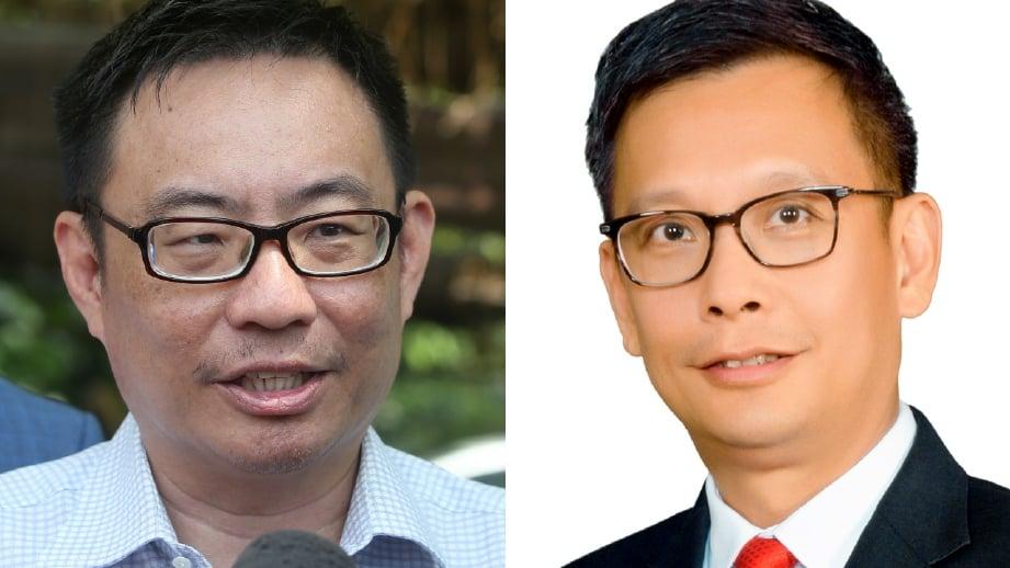 LEONG Cheok Keng (kiri) dan Leow Thye Yih. FOTO Arkib NSTP