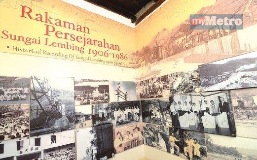 GAMBAR kenangan yang menyimpan pelbagai cerita mengenai Sungai Lembing.