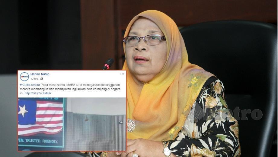 PAKAR Sejarah, Prof Datuk Dr Ramlah Adam. FOTO Zulfadhli Zulkifli. (Gambar kecil) MABA meminta maaf berhubung insiden bendera bintang lima.
