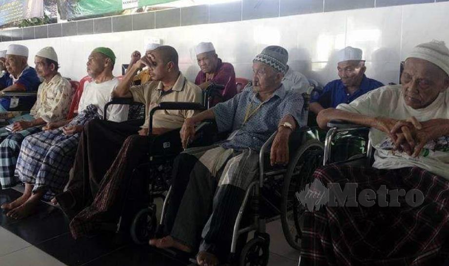 SEBAHAGIAN warga emas di Pusat Jagaan Mahmudah Malaysia, Semenyih. FOTO ihsan Pusat Jagaan Mahmudah Malaysia.