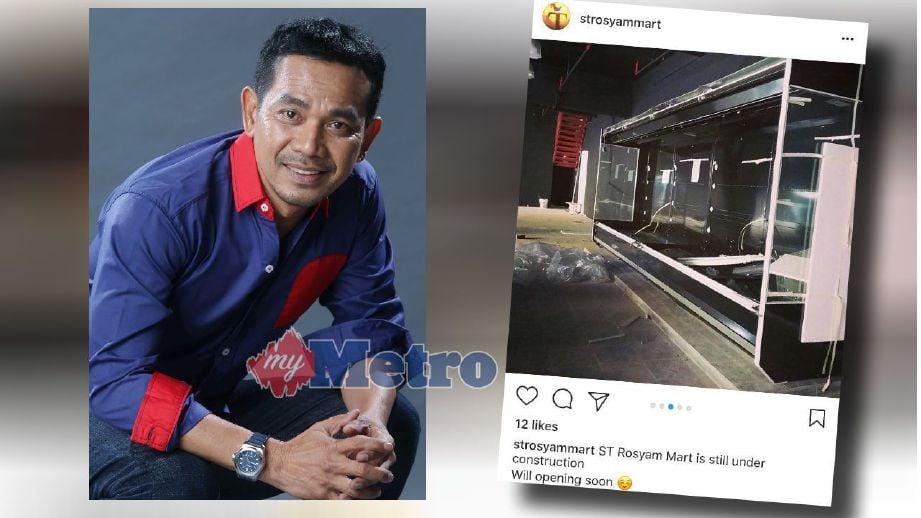 Rosyam Nor bakal melancarkan pasar raya borong miliknya awal Februari depan. FOTO arkib NSTP dan Instagram strosyammart.