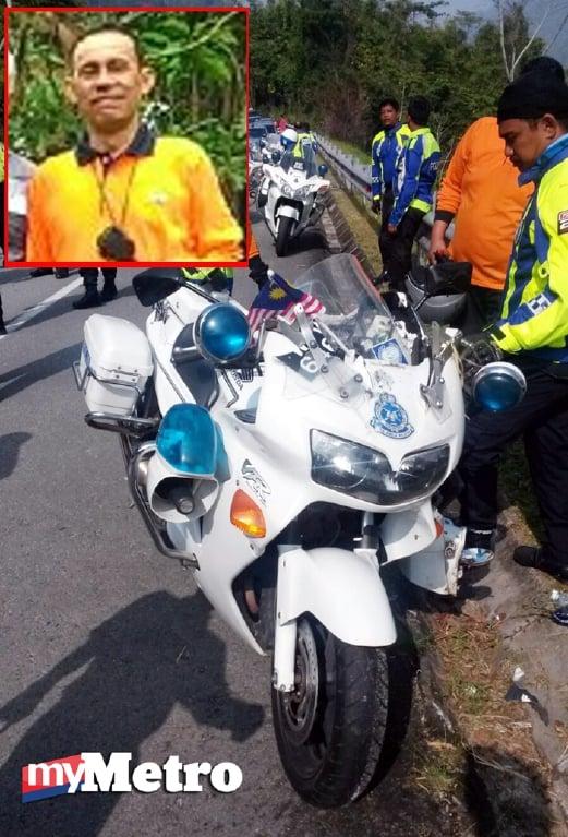Polis trafik maut ketika konvoi