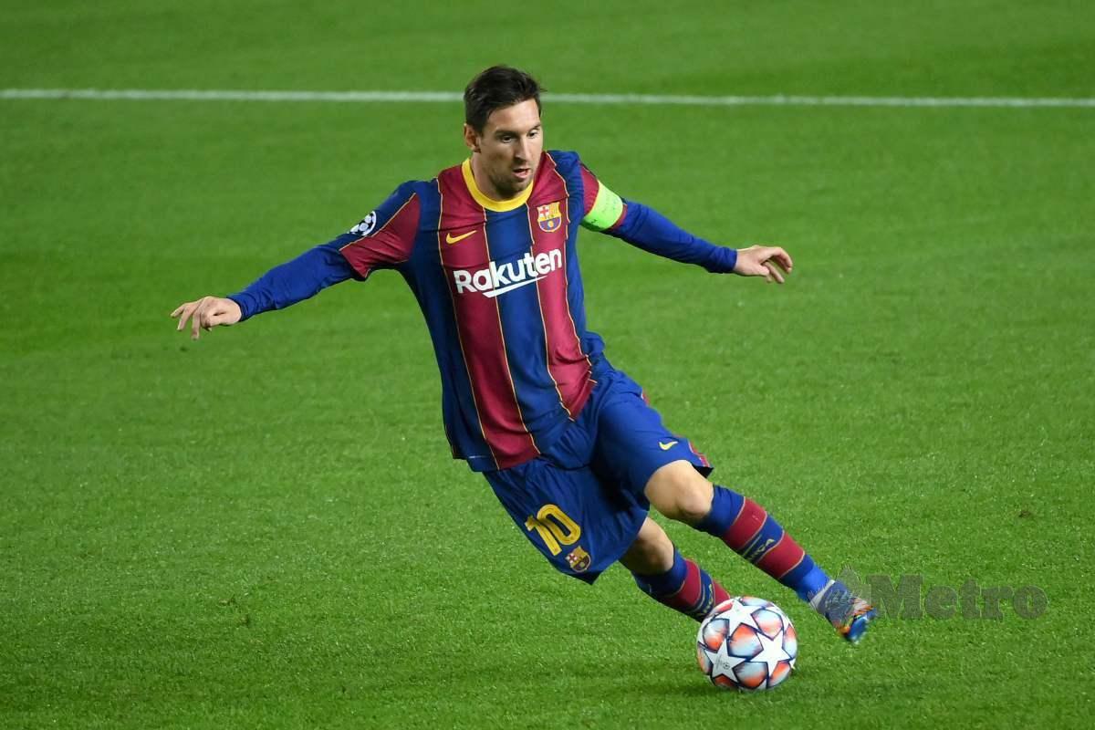 MESSI mempunyai baki kontrak bersama Barcelona sehingga tahun depan. FOTO AFP