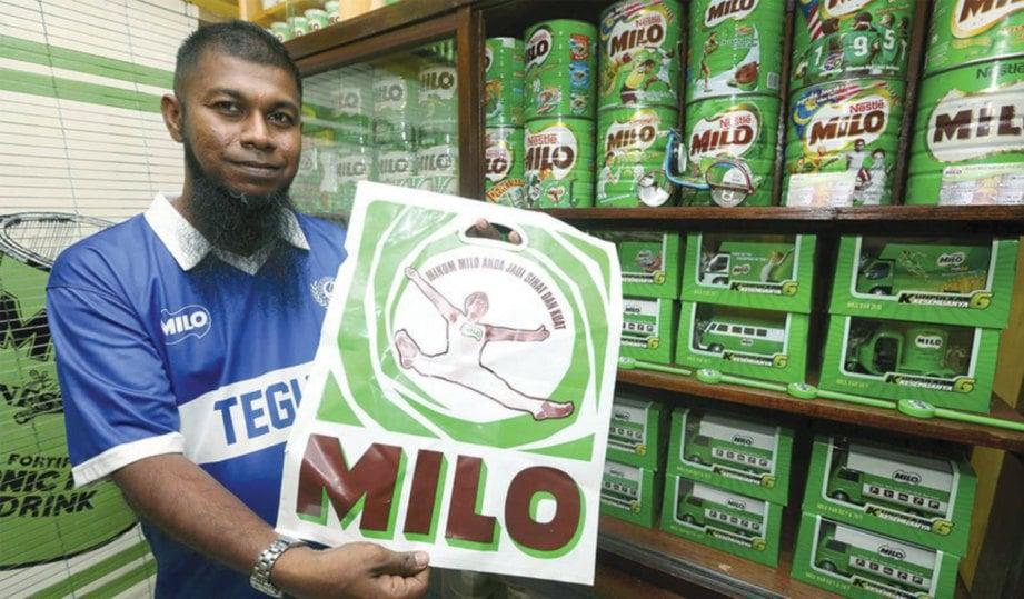 PLASTIK Milo turut disimpan Mohd Yusof.