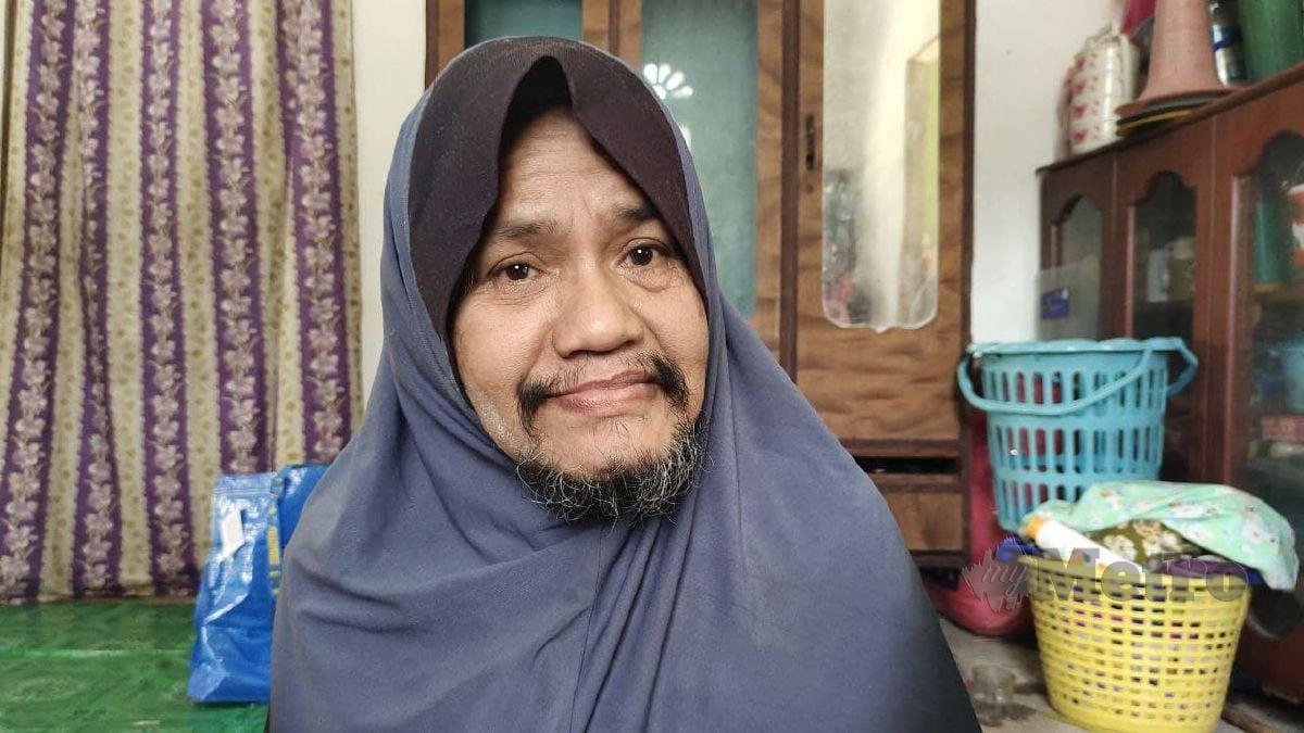 Misai janggut memenuhi wajah wanita Kelantan ini