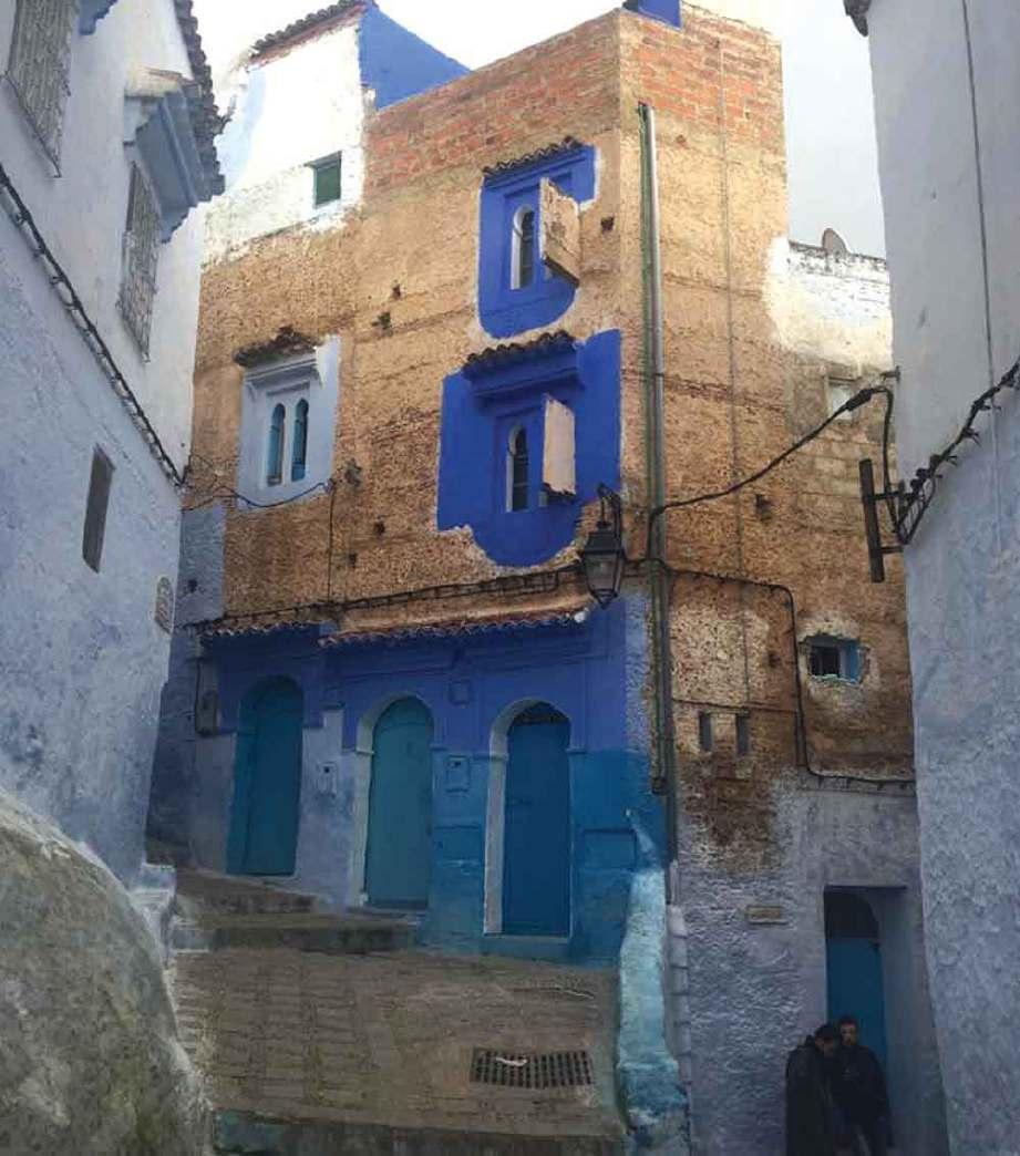 CHEFCHOUEN yang biru. FOTO Hanim Mohd