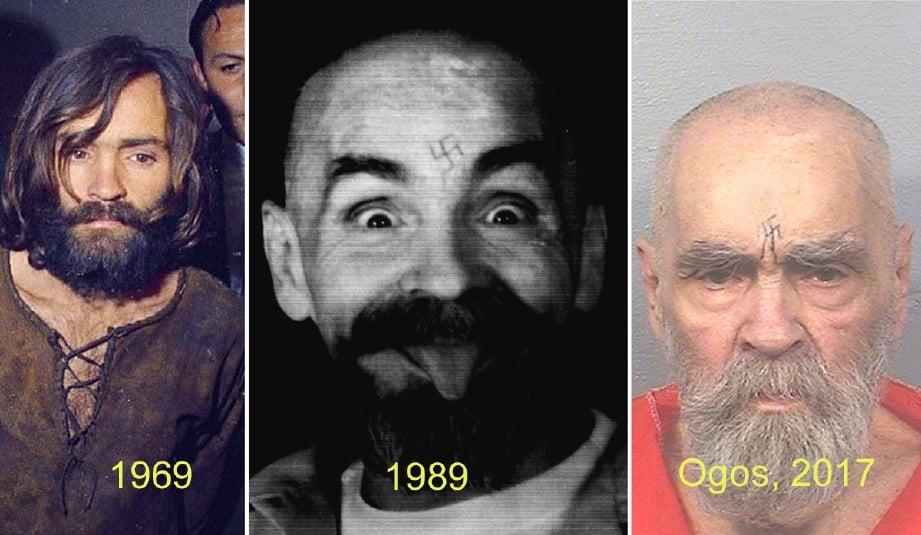 Charles Manson mati pada usia 83 tahun ketika menjalani hukuman penjara sepanjang hayat di California. - Foto REUTERS/Arkib