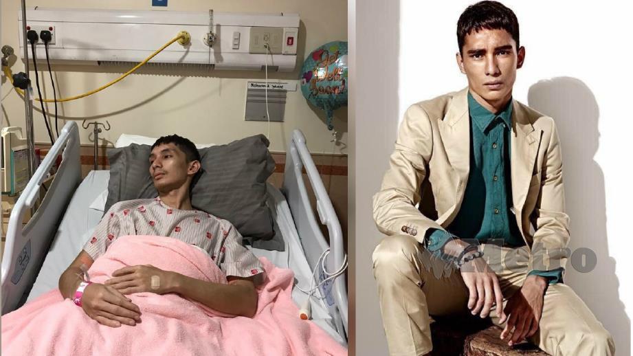 MUHAMMAD Joharee kini mendapat rawatan di Hospital Serdang akibat mengalami jangkitan kuman pada injap jantung. (Gambar kanan) Wajah Muhammad Joharee ketika menghiasi majalah fesyen sebelum ini.