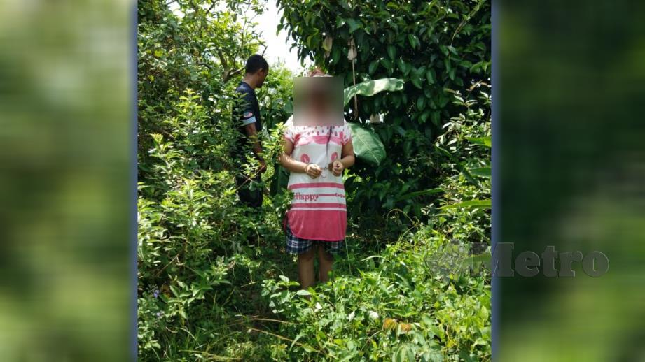 WANITA Myanmar yang ditahan dalam semak. FOTO Ihsan JIM