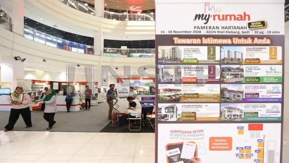 PAMERAN Hartanah MyRumah 2018 di AEON Mall Ipoh, Klebang. Foto ABDULLAH YUSOF