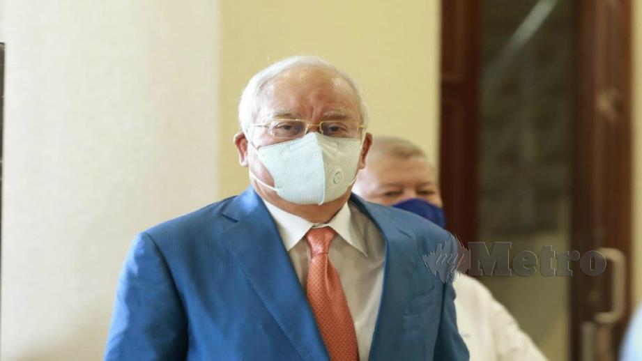 DATUK Seri Najib Razak hadir di Mahkamah Tinggi hari ini. FOTO ROHANIS SHUKRI