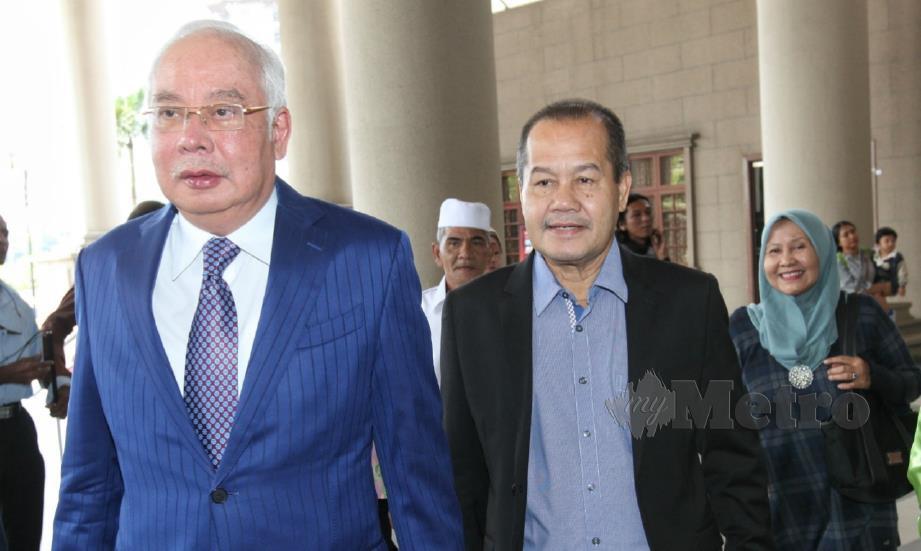 NAJIB ketika hadir di mahkamah, hari ini. FOTO Mahzir Mat Isa.