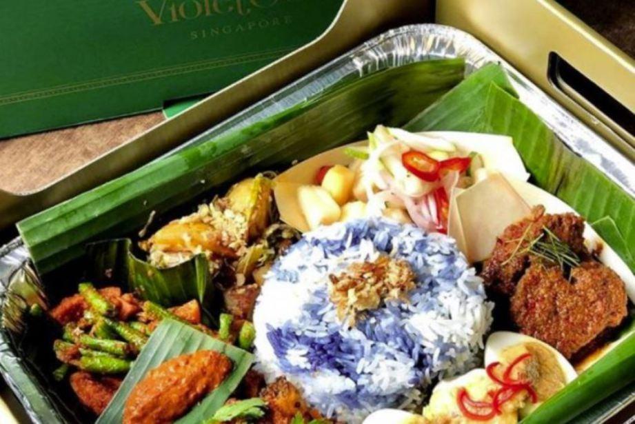 MENU yang digelar Dulang Nasi Ambeng Nyonya. - Facebook Violet Oon Singapore.