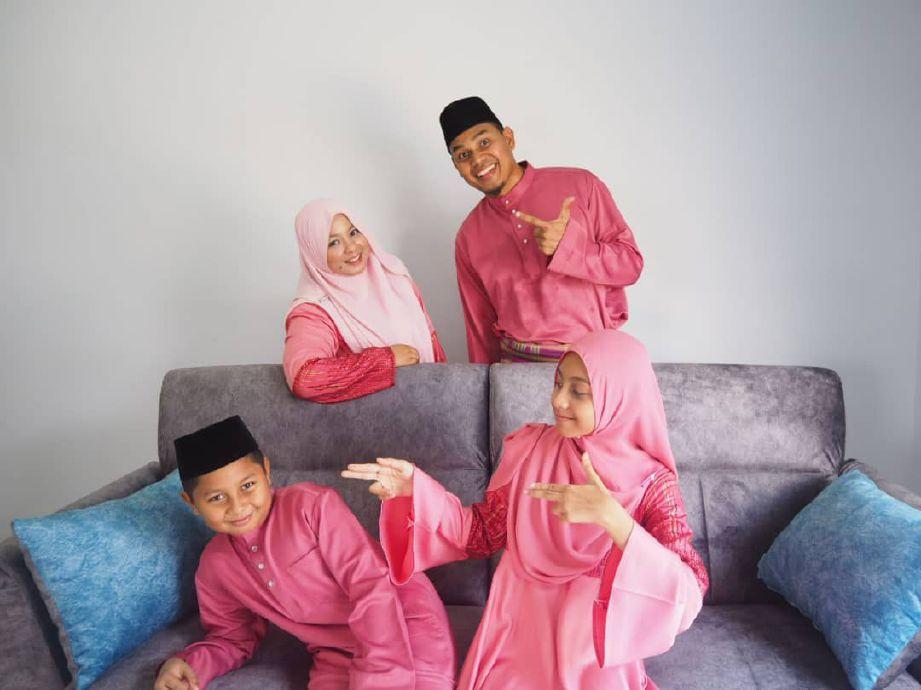 NAZMIZAN beraya bersama keluarga di Perlis. FOTO Ihsan Nazmizan Muhammad