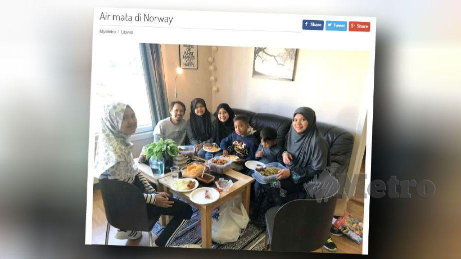 Hairi dan Norliha bersama anak mereka.