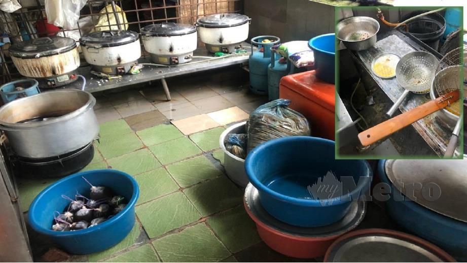 KEADAAN dapur sebuah premis makanan yang diarah tutup. FOTO Ihsan JKWPKL.