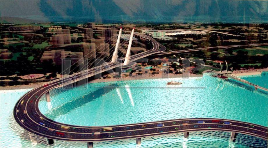 GAMBARAN artis jambatan bengkok atau Jambatan Indah. FOTO arkib NSTP