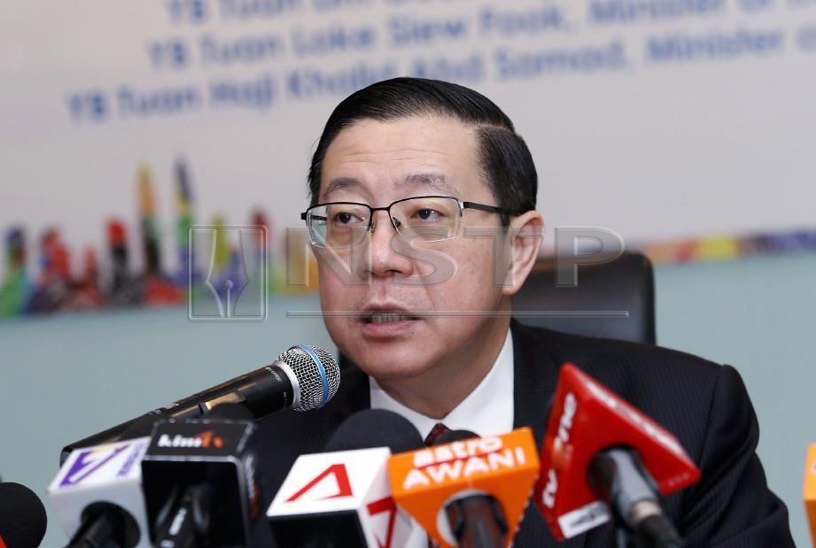 LIM Guan Eng. FOTO Eizairi Shamsudin