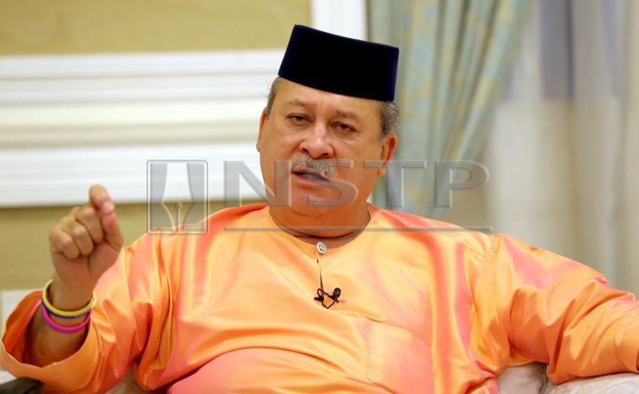 JOHOR BAHRU 20 NOVEMBER 2017  Sultan Johor Sultan Ibrahim Sultan Iskandar di Istana Pasir Pelangi Johor Bahru. NSTP/ZAIN AHMED