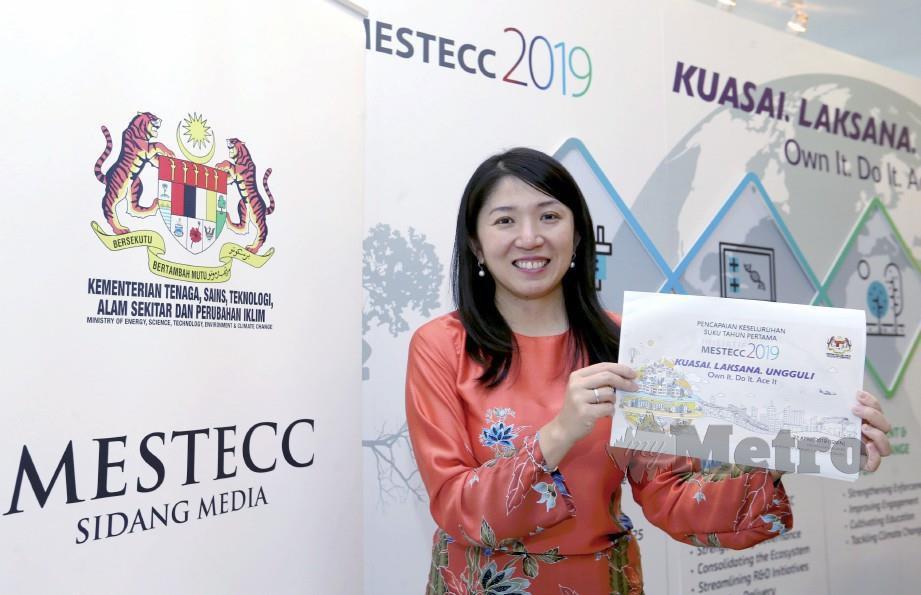 Yeo Bee Yin pada sidang media sempena setahun Pakatan Harapan memerintah di MESTECC. FOTO Ahmad Irham Mohd Noor