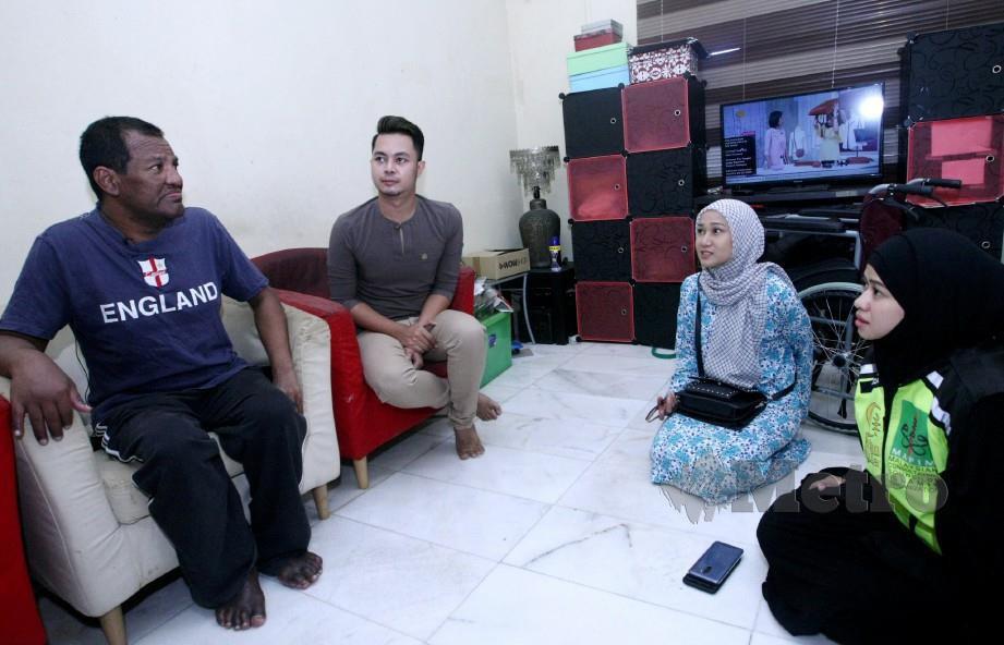 Hathim Thai dikunjungi rakan artis, Amy Mastura, Heliza Helmi dan Datuk Alha Alfa di kediamannya. FOTO Eizairi Shamsudin