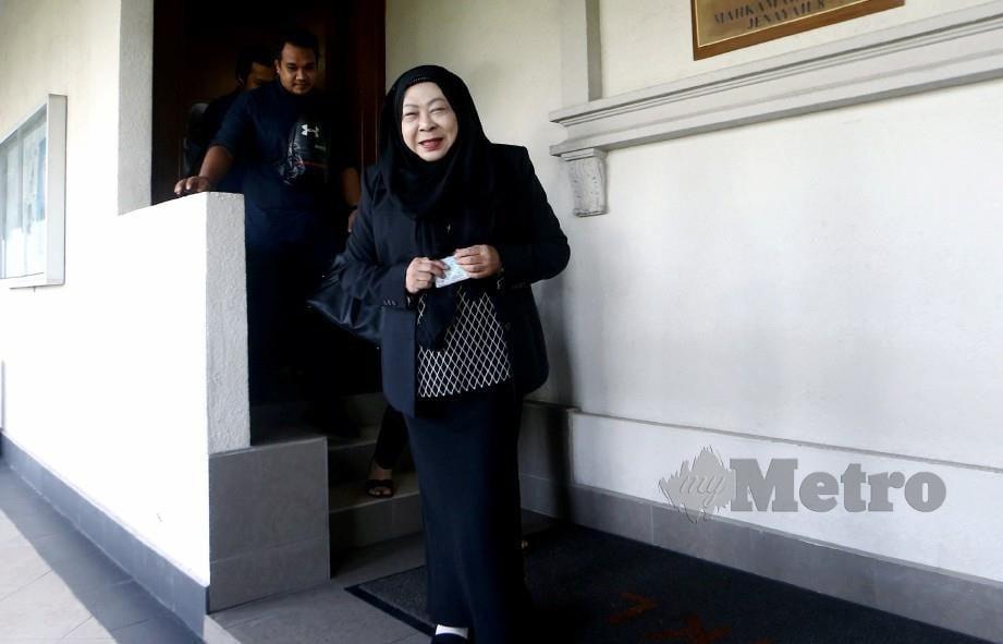 HASANAH ketika hadir di Kompleks Mahkamah Kuala Lumpur, Januari lalu. FOTO Eizairi Shamsudin