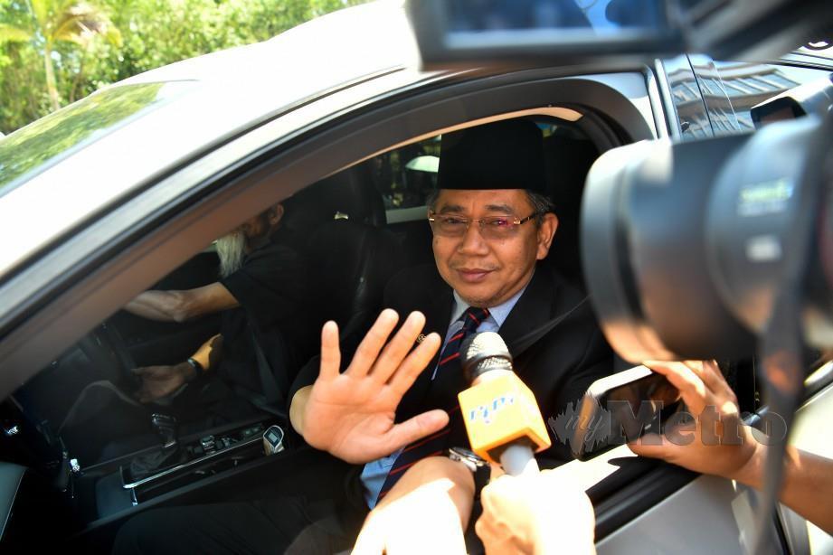 SALAHUDDIN tiba dari pekarangan Pintu Dua Istana Negara. FOTO Bernama